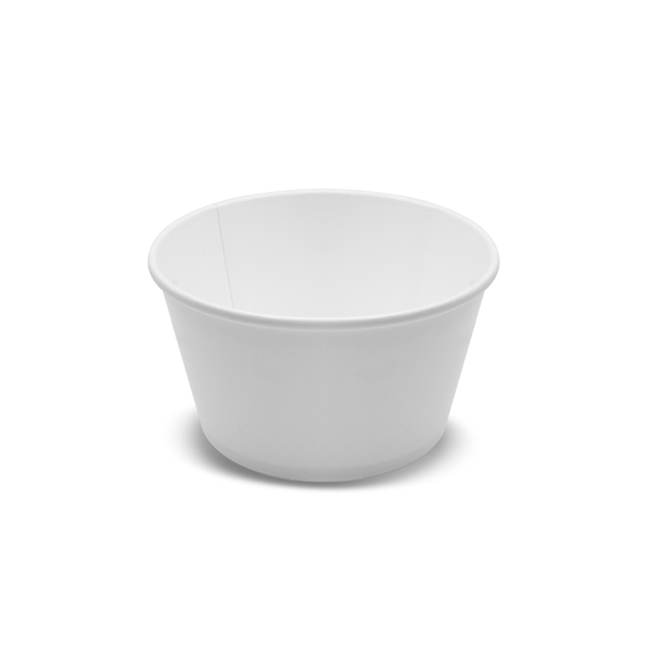 185-100-025 Paper Bowls 24oz. Plain White