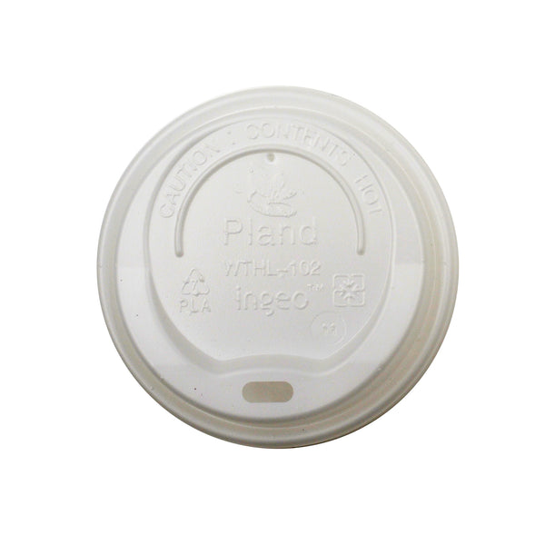 330-002-080 CPLA EarthPro PLA Hot Cup Sip Lids fits 8oz.