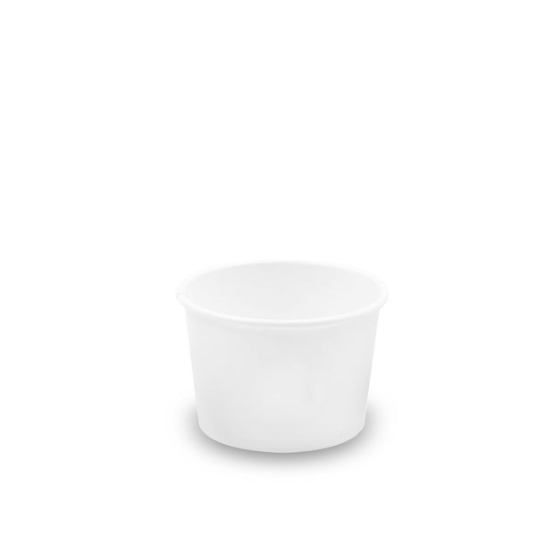 120-001-008 Soup/Food Cup 8oz. Standard Paper, Plain White