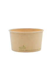 120-500-012 Soup/Food Cup EarthPro 12oz. Compostable Natural Paper, Stock Print