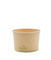 120-500-008 Soup/Food Cup EarthPro 8oz. Compostable Natural Paper, Stock Print