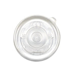 325-002-090 Clear PP Vented Lid, fits 8oz. Soup/Food Cup
