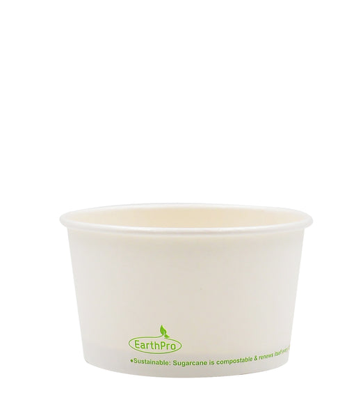 120-600-012 Soup/Food Cup EarthPro 12oz. Compostable White Paper, Stock Print