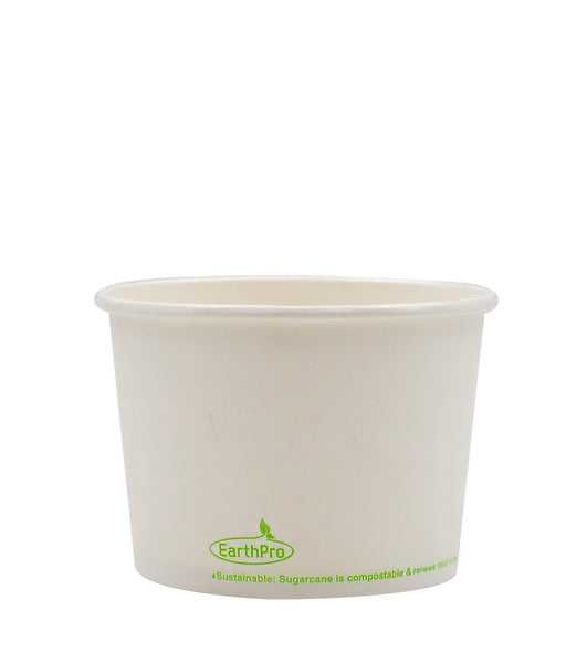 120-600-016 Soup/Food Cup EarthPro 16oz. Compostable White Paper, Stock Print