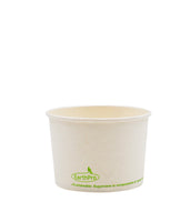 120-600-008 Soup/Food Cup EarthPro 8oz. Compostable White Paper, Stock Print