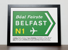 Irish Road signs - BELFAST, Ireland