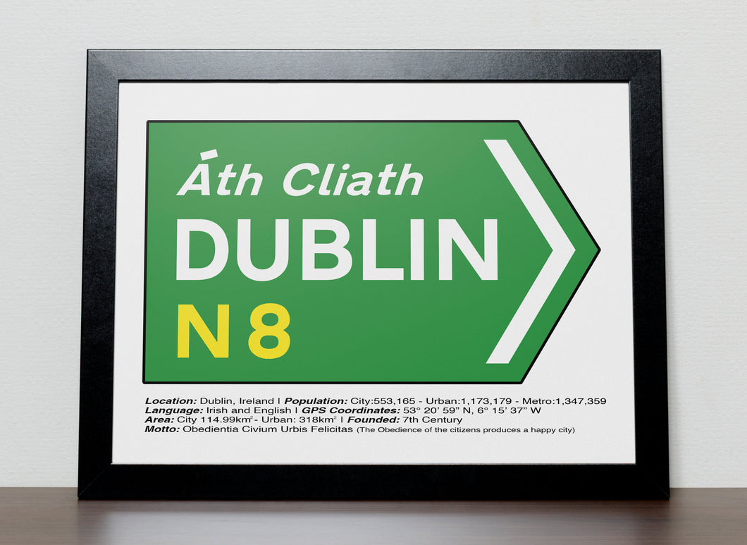 Irish Road signs - DUBLIN , Ireland