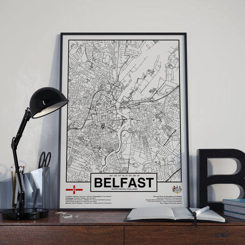 Belfast City Northern Ireland poster - World Cities