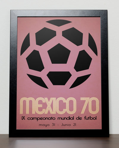 World Cup 1970 poster - Mexico 70