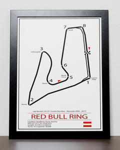 Red Bull Ring Austrian Grand Prix Track Poster