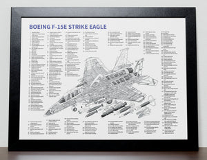 F-15 E Strike Eagle fighter jet Poster