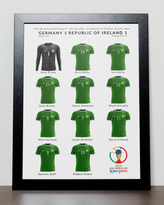 Ireland v Germany World Cup 2002 Poster