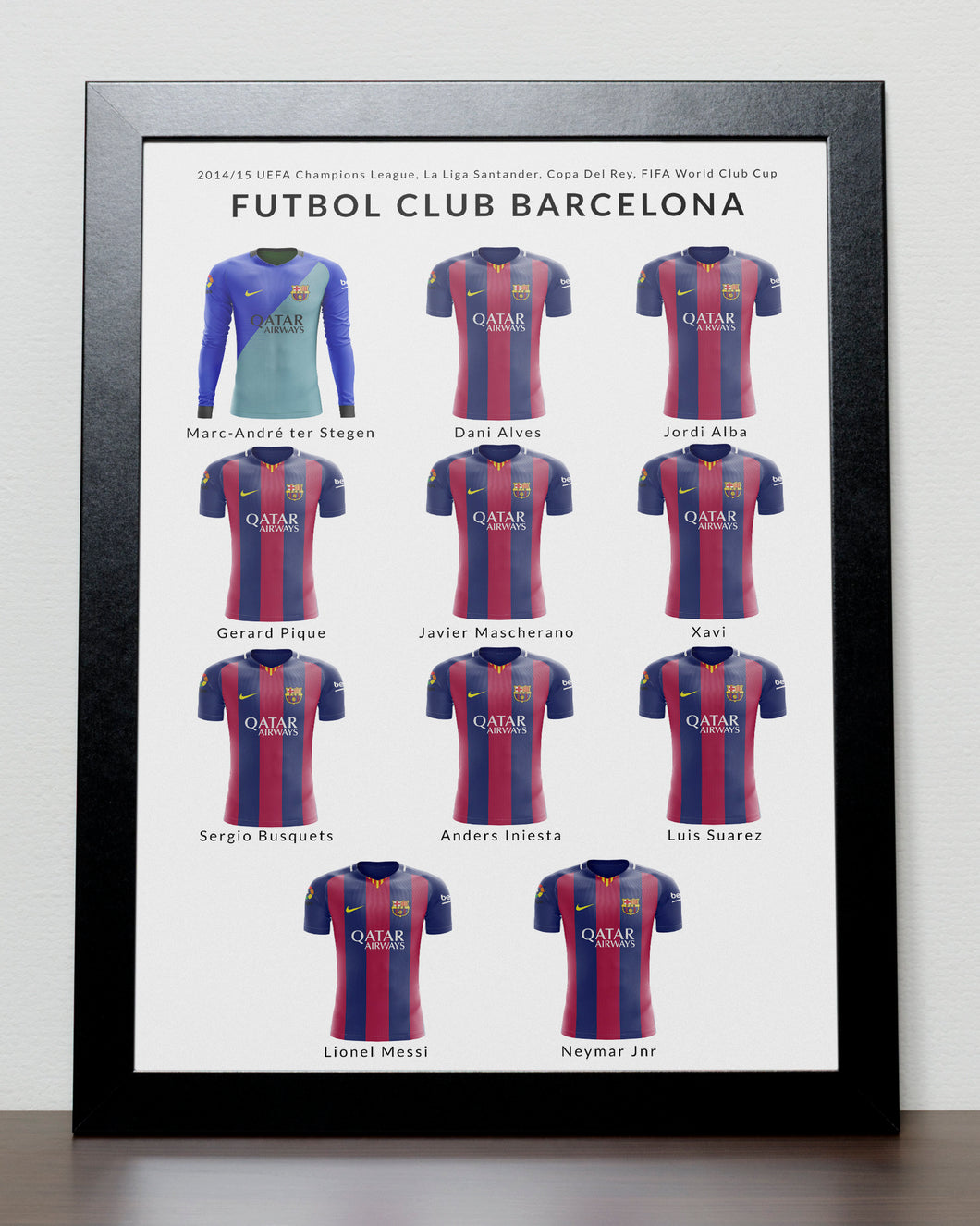 Barcelona Greatest Team Poster