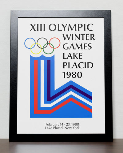 Lake Placid - Winter Olympics 1980 Poster