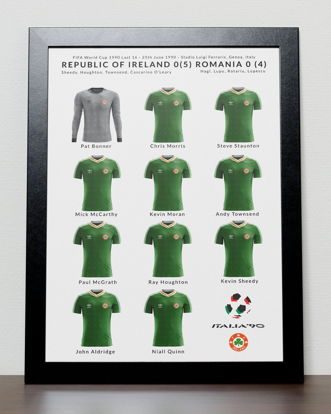 Ireland v Romania World Cup 1990 Poster