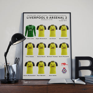 Liverpool v Arsenal 1989 Poster - Arsenal Champions
