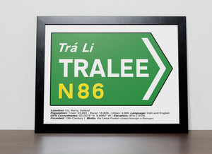 Irish Road signs - TRALEE
