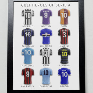 Cult Heroes of Italian Football Poster