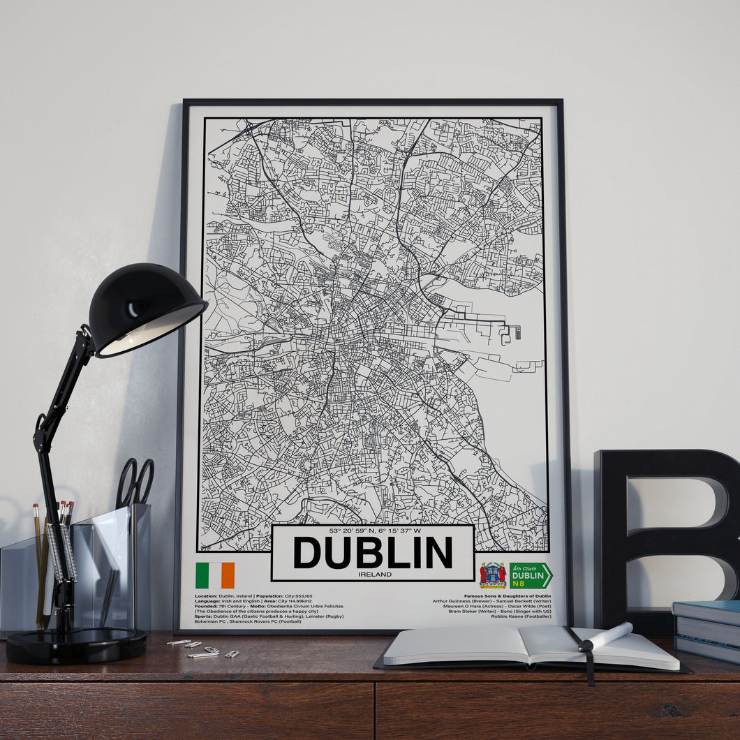 Dublin City Ireland poster - World Cities