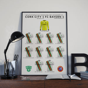 Cork City v Bayern Munich Team Poster