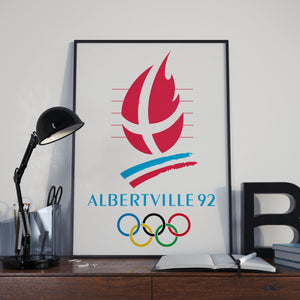 Albertville Winter Olympic Games 1992 Poster