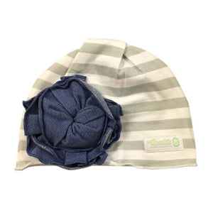 Woombie Flower Denim Beanie 0-6M