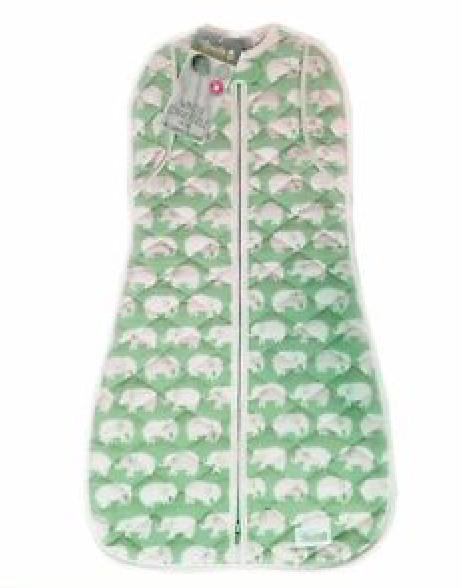 Woombie Winter Convertible - Green Elephant 1.8 TOG Newborn 0-3M/2.5-6KG