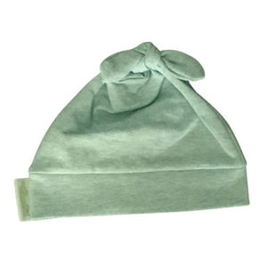 Woombie Cotton Beanie - Lime Sorbet 0-6M