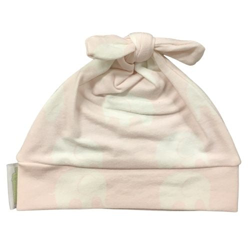Woombie Cotton Beanie - Pink Elephant 0-6M