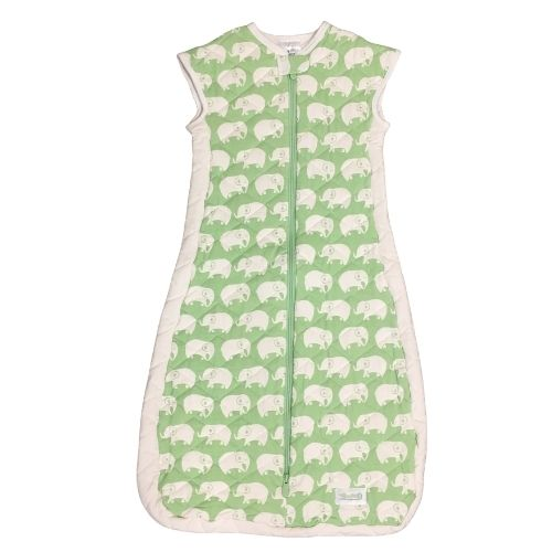 Woombie Ultimate Sleep Sack - Green Elephant 9-24M