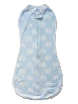 Original Woombie Swaddle - Baby Blue Elephant
