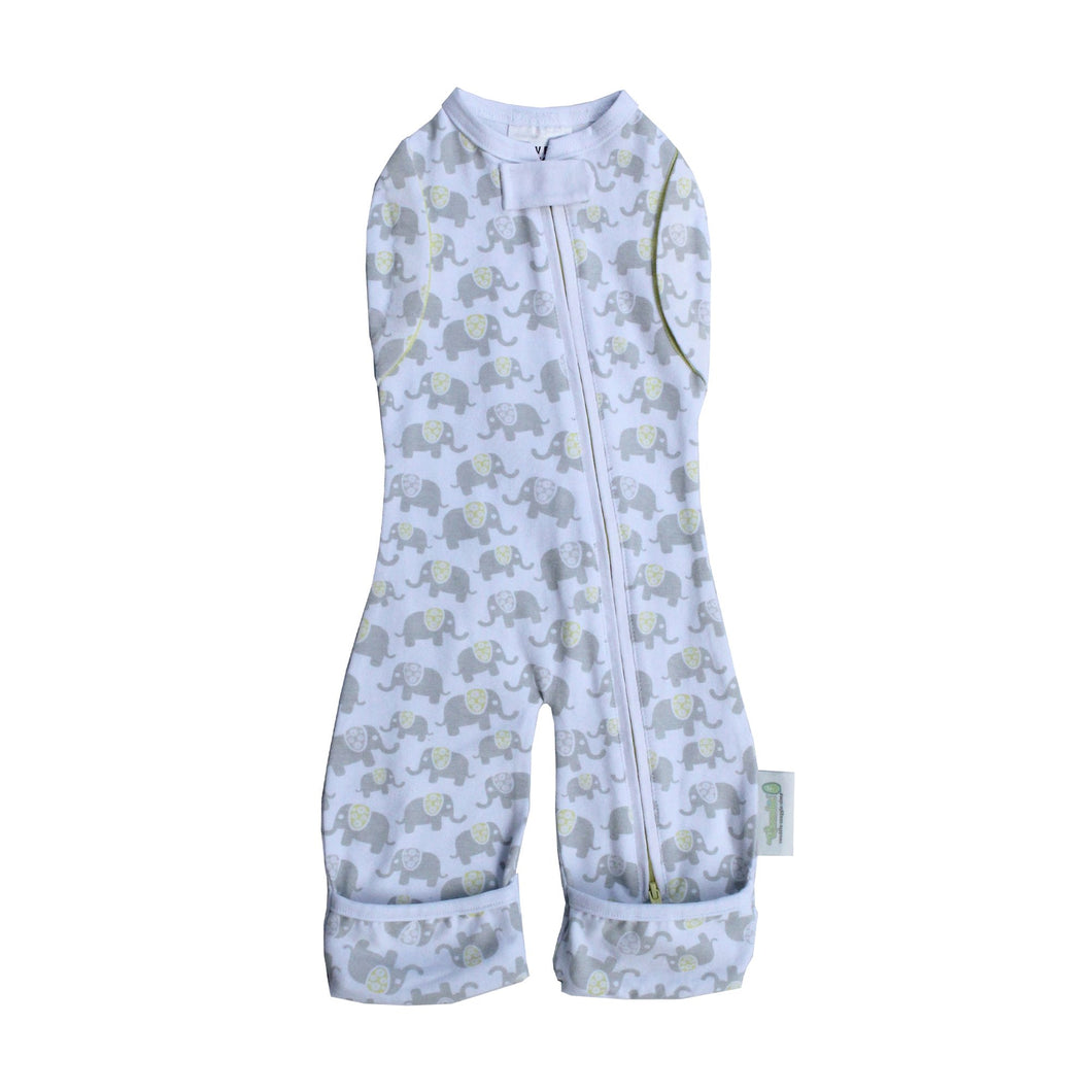 Woombie Convertible Leggies Happy Elephants- Big Baby 3-6M/6.5-9KG