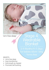 Grow With Me Woombie Elephants Grey 0-18M