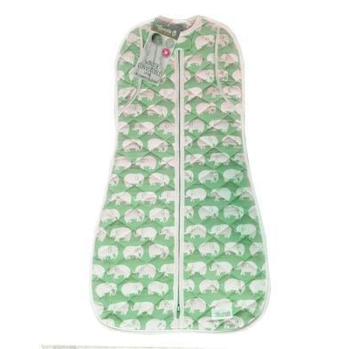 Woombie Winter Convertible - Green Elephant 1.8 TOG Big Baby 3-6M/6.5-9KG