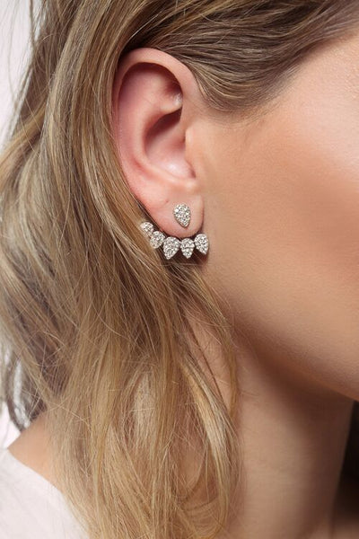 Love Crystal Stud Earrings