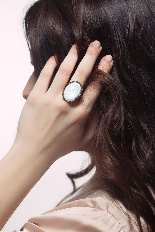 Love Geometric Oval Ring