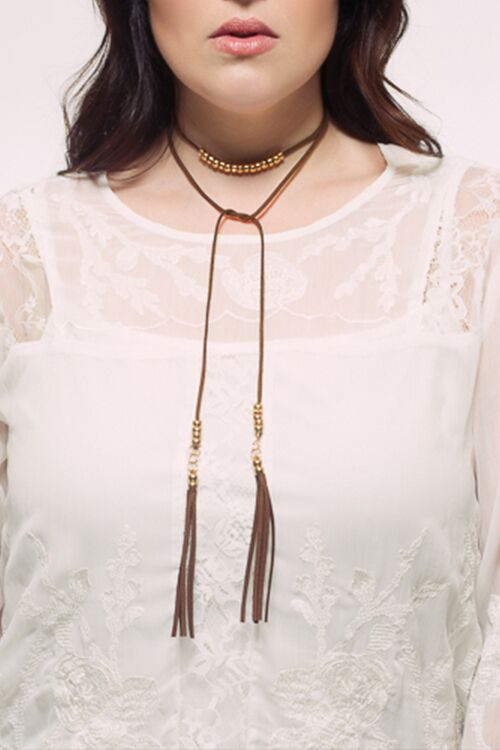Love Rope Tie Necklace