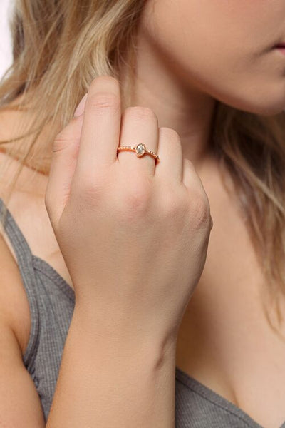 Love Water Drop Ring
