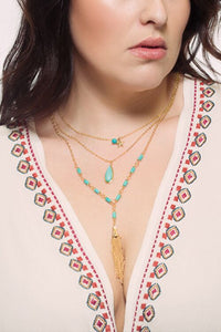 Love Multi Layered Tassel Necklace