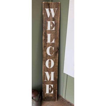 Vertical Welcome Porch Sign