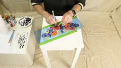 how to paint flowers on furniture