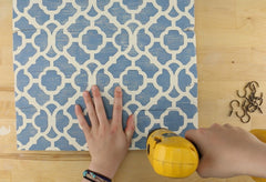 Drill holes for DIY home organizer