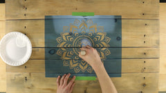 how to stencil wall art
