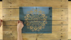 how to stencil wooden wall art