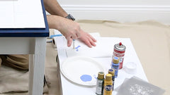 how to stencil without too much paint