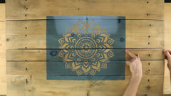 how to center the stencil template without measuring