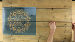 how to center the stencil template