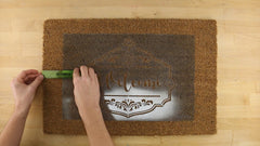 how to paint a doormat step by step