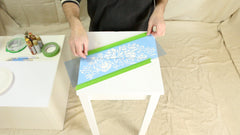 how to stencil a table