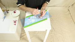 stencil an upcycled table